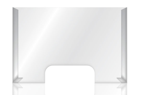 Clear acrylic COUNTER SHIELD