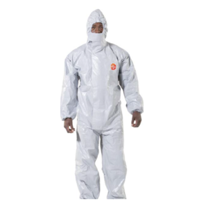 Tychem laminated disposable coverall